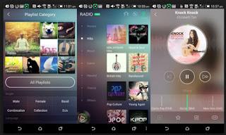 tampilan aplikasi musik joox