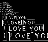 palavra i love you png