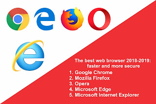 The best web browser 2018-2019 faster and more secure