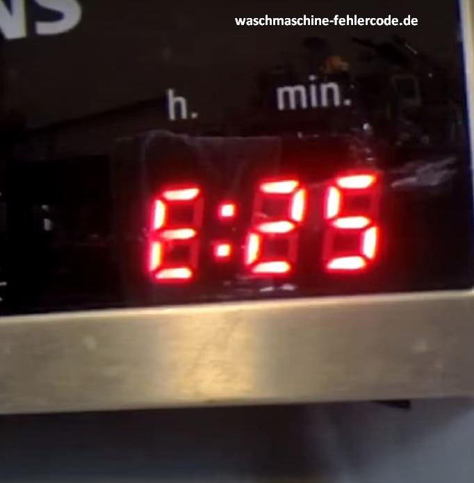 Siemens Geschirrspüler Fehlercode E25