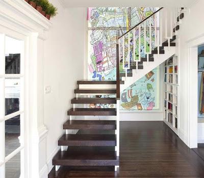 gambar tangga rumah mewah desain interior terbaru - gambar