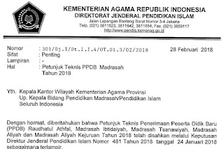 Juknis PPDB Madrasah 2018