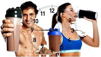 Horarios adecuados para tomar el batido de proteína