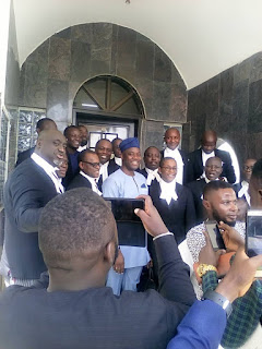 Seyi Makinde And His Legal Team Smile As Court Affirms Him As Oyo Governor (Photo)