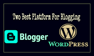 Wordpress and blogger two best cms platform for blogger and blogging