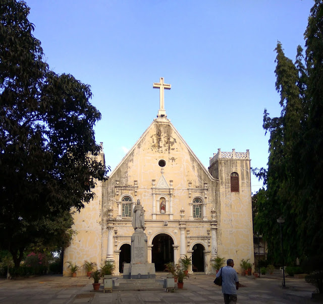 st. andrew's church, blue sky, bandra, mumbai, oldest church, incredible india, trees, skywatch