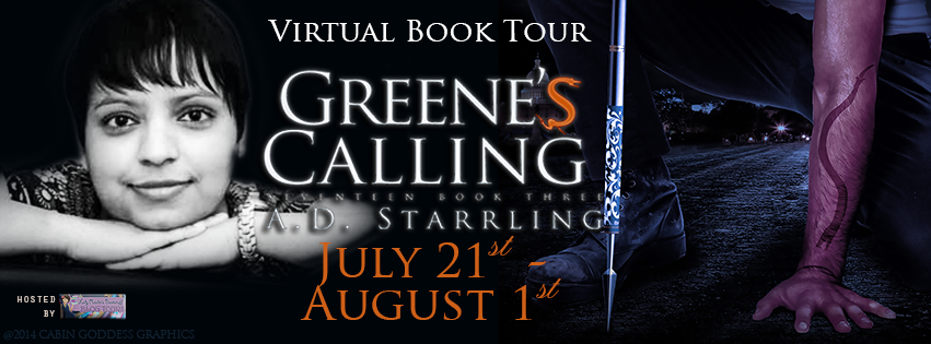 A.D. Starrling's Greene's Calling Virtual Tour with Fourth Wall, Excerpt & $25 Giveaway