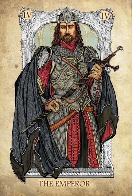 Senhor dos anéis em cartas de tarô - O imperador