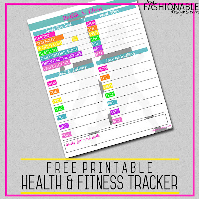 image regarding Free Printable Fitness Planner identify My Modern Styles: Absolutely free Printable Health and fitness Physical fitness Monitoring