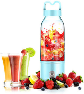 New Portable Blender Single Serve, Personal Size Blender USB Rechargeable Juicer Cup Fruit Mixing Machine Baby Travel 380ml FDA, BPA-Free
