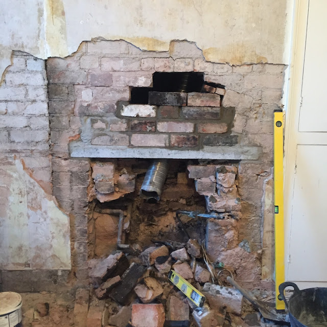 fixing sunken brickwork in a chimney