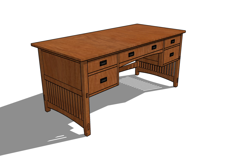Mission Desk Plans PDF Woodworking