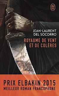 Couverture livre - critique littéraire - Royaume de vent et de colères de Jean-Laurent del Socorro