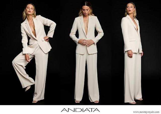 Crown Princess Victoria wore ANDIATA Jane blazer and Kamille trousers