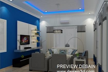 Rendering 3dmax kualitas photorealistik design ruang keluarga