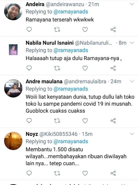 Ramai Pembeli Ramayana Bogor Kelabui PSBB dengan Matikan Lampu Seolah Tutup
