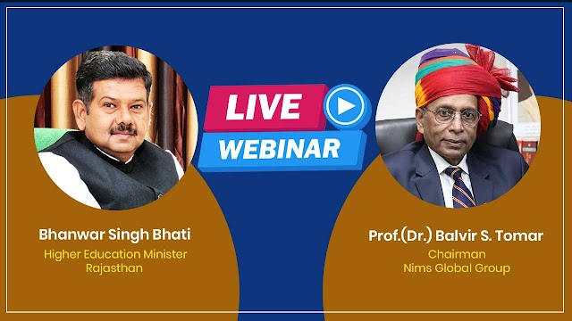 Rajasthan Minister Bhanwar Singh Bhati Webinar with Prof Dr Balvir Singh Tomar