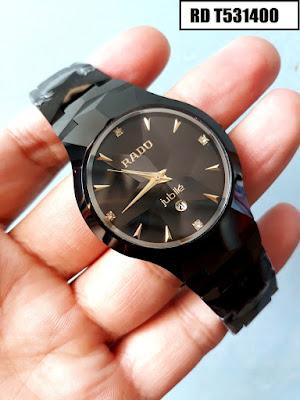 Đồng hồ đeo tay nam mặt tròn dây đá ceramic RD T531400