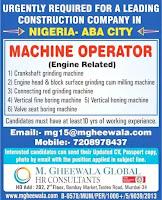 Machine Operator Vacancy - Nigeria Aba City