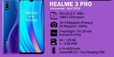 Spesifikasi Lengkap Dan Terbaru Realme 3 Pro