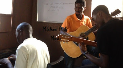 nigerian band practicing together