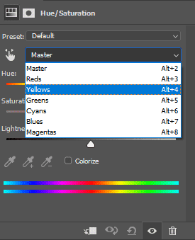 Cara merubah banyak warna kaos di Photoshop dengan Hue/Saturation