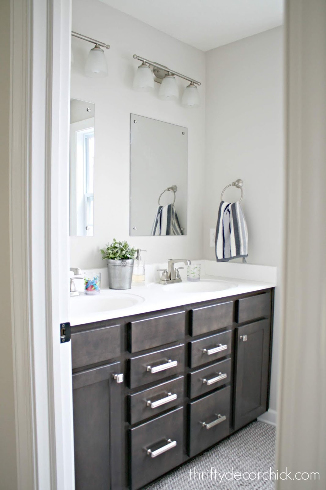 Two room or one room bathroom layout