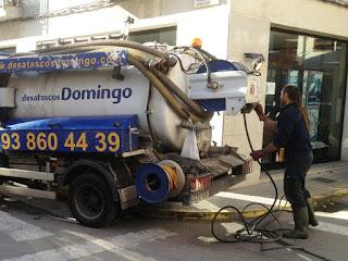 Limpiar tuberías: agua presión