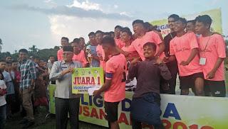 Nagari Talang Juarai Liga Desa Nusantara Tingkat Kabupaten Solok 2019