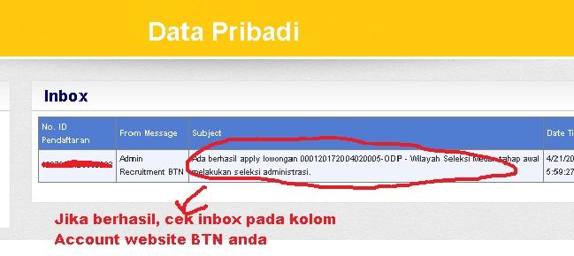 Daftar Online Bank BTN selesai