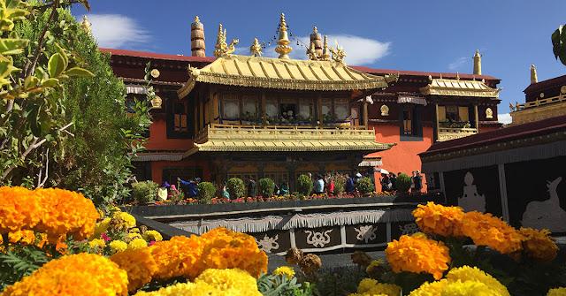 Jokhang Roof in Lhasa, Tibet