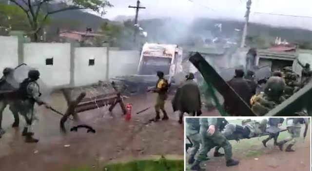Video: Así fue el ataque de pobladores contra Cuartel Militar en Aguililla, Michoacán