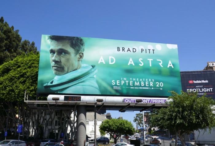 Brad Pitt Ad Astra billboard