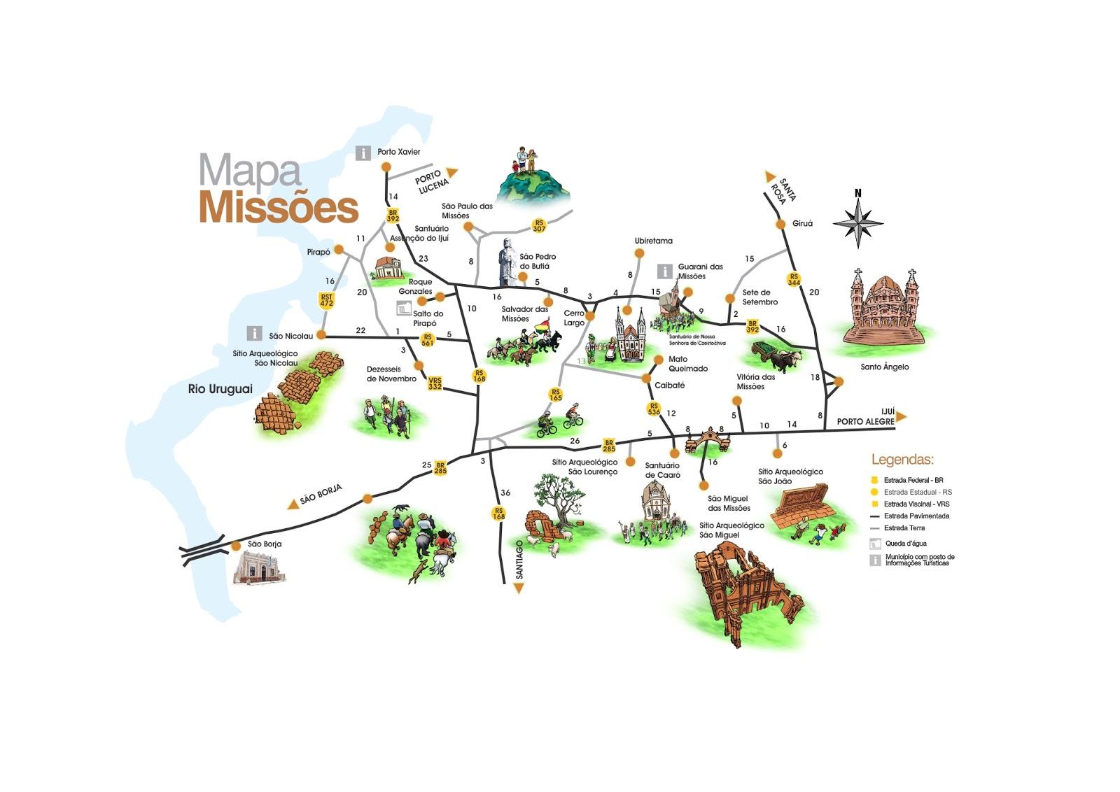 Mapa das Missões Jesuíticas