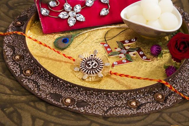 Rakhi Decorated Thali Images