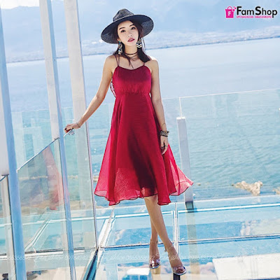 Váy maxi đi biển V253