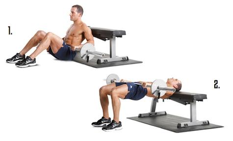 ejercicio hip thrust con barra