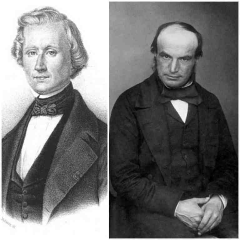 Urbain Le Verrier (left) and John Couch Adams (right)