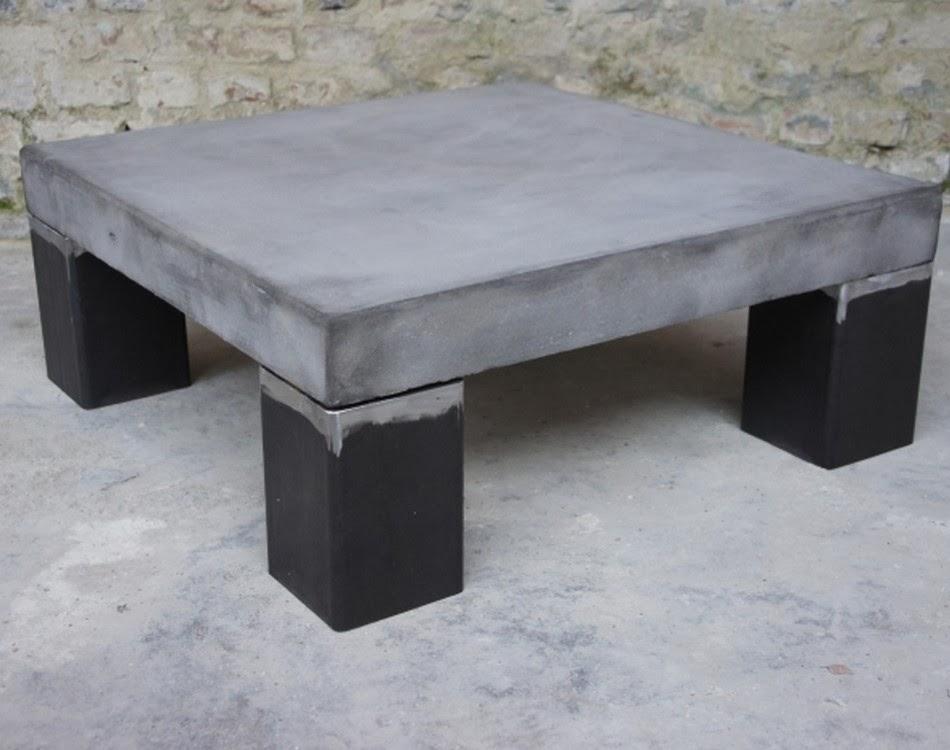 table basse beton exterieur. Black Bedroom Furniture Sets. Home Design Ideas