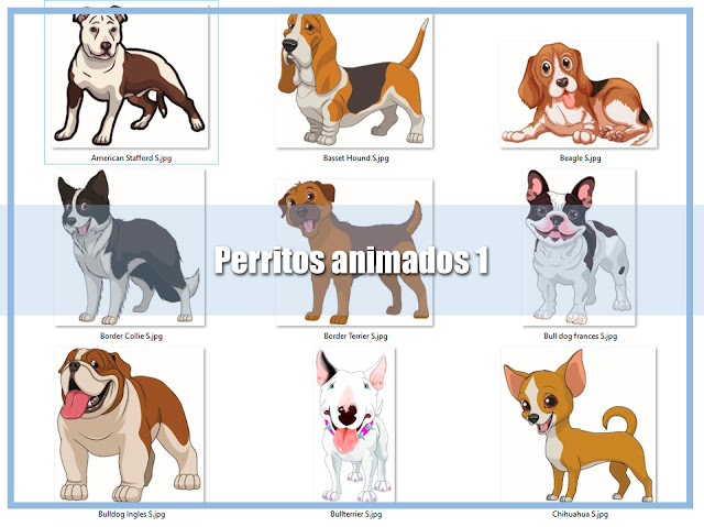 descarga dibujosm de perritos animados
