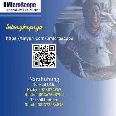 LOMBA Menulis UMiCroScope Berhadiah Total Puluhan Juta