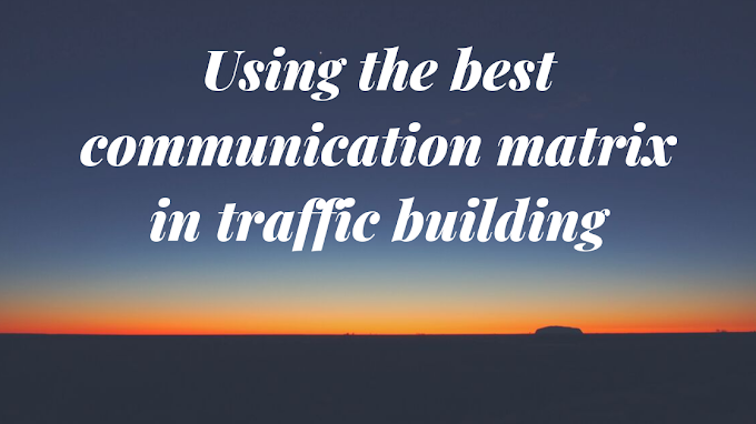 Using the best communication matrix in traffic building