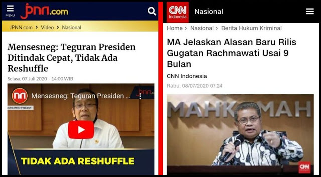 Reshuffle Batal, Karena Beredarnya Keputusan MA?