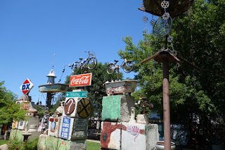 The Junkyard Outsider Art Park Mason City Iowa collage art
