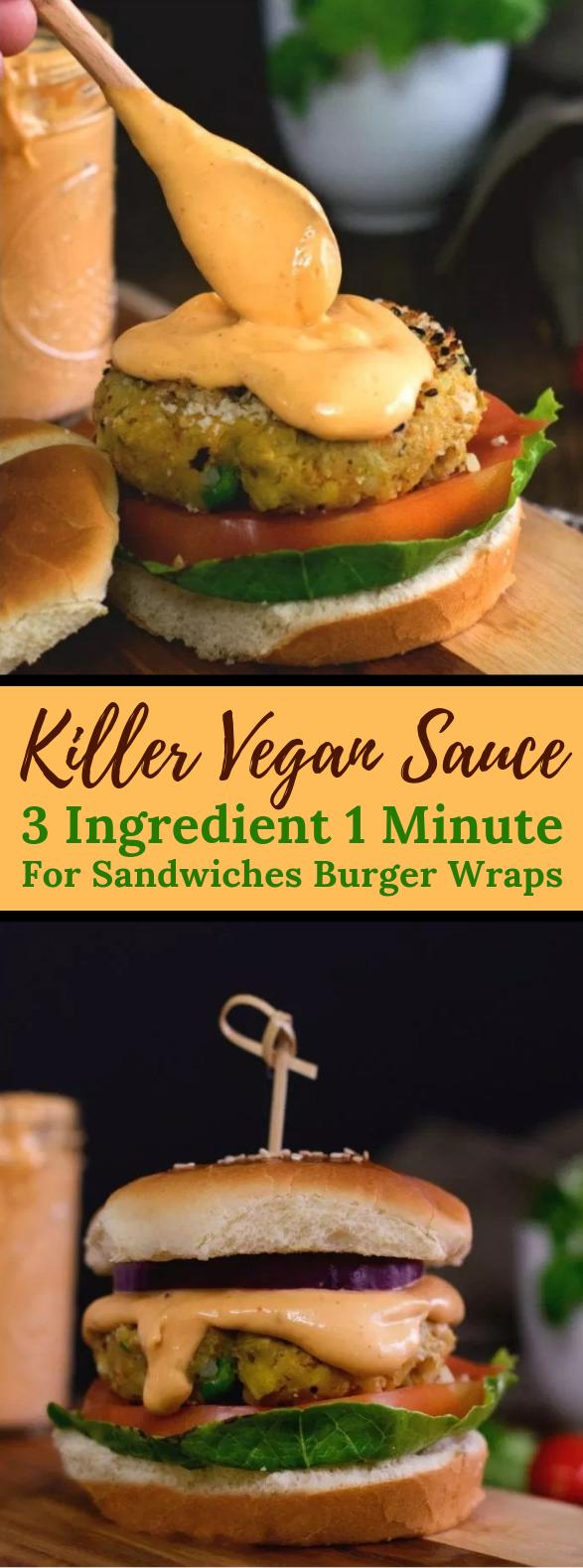 3 INGREDIENT KILLER VEGAN BURGER SAUCE #veganrecipe #glutenfree