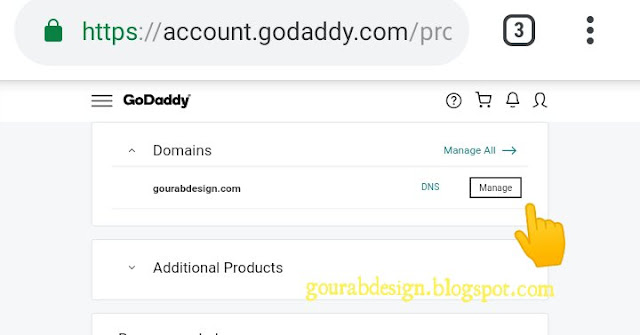 Manage dns on godaddy
