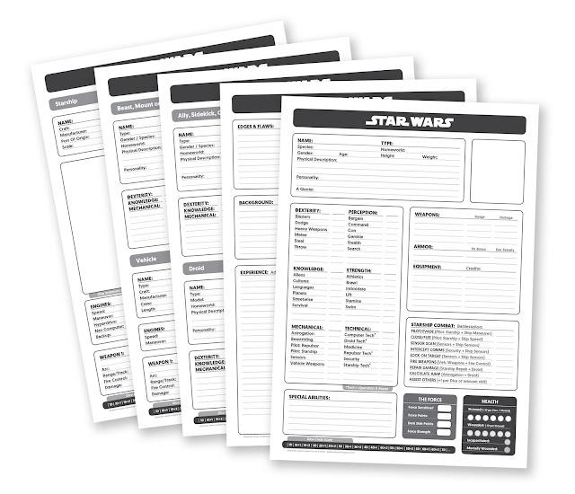 Star Wars JezD6 Character Sheets PDF link