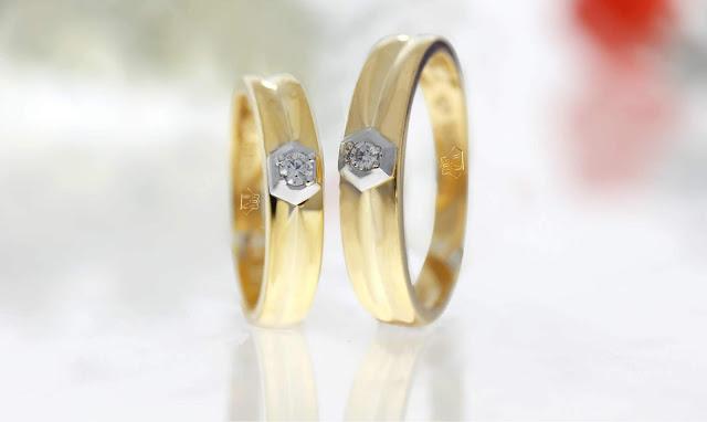 Nhẫn cưới một hạt đá xịn sò - Giá bán 3.960.000