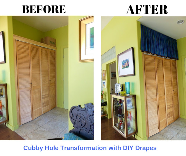 Before & After Cubby Hole Drapes