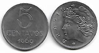 5 centavos, 1969